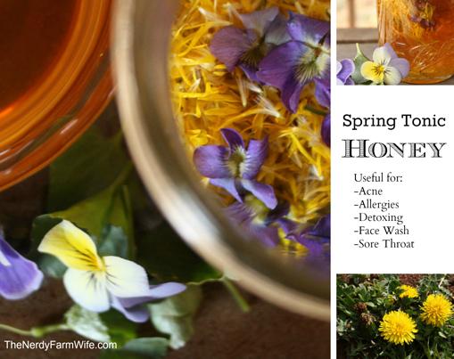 How To Make Spring Tonic Honey