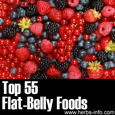 Top 55 Flat-Belly Foods