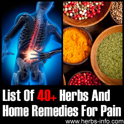 List Of 40+ Herbs And Home Remedies For Pain